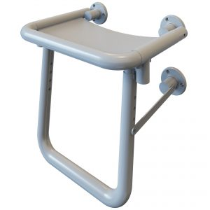 Alutec Hinged Shower Seat with Leg