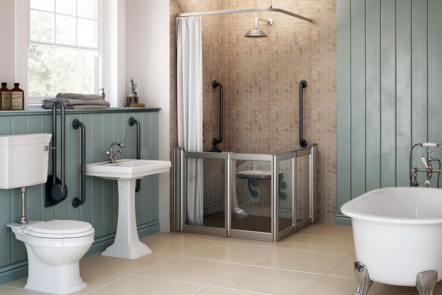 Shower Enclosures Mobility Bathrooms Support Fittings