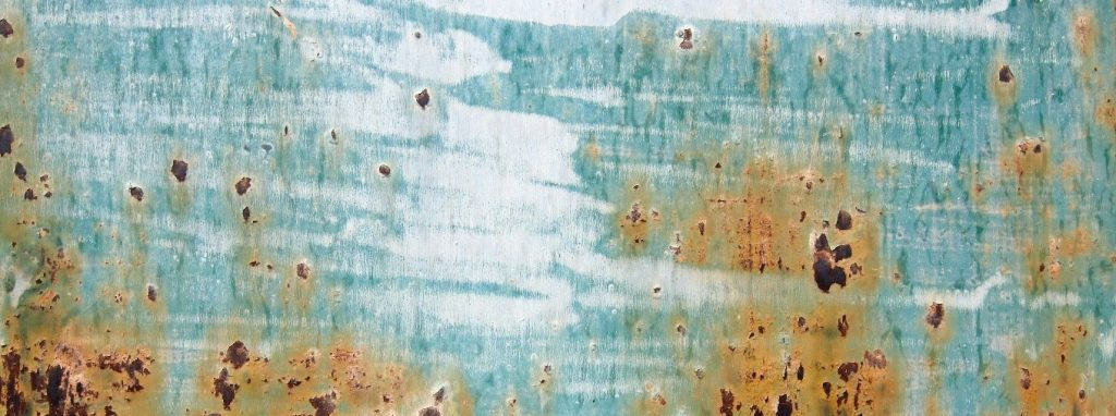 Corroded coating for handrails and balustrade