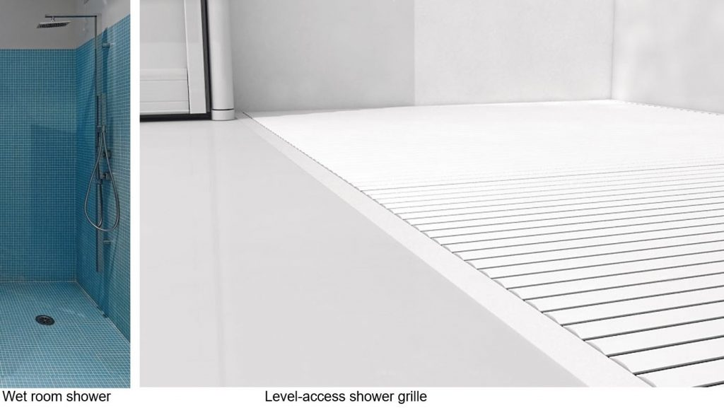 wet room and level access