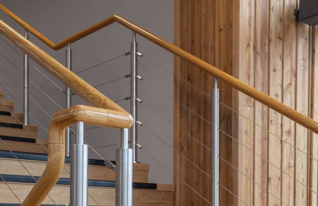 wood effect coating for handrails and balustrade